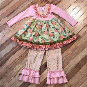 Giggle moon harvest fields dress and ruffle pants